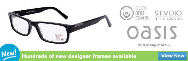 Hundreds of designer frames available!