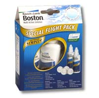 Contact lenses Solutions & Cleaners Boston Simplus Flight Pack